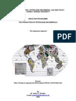 Prodution of Petroleum and Mineral Upstream