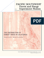 US Forest Service 1972 Tree Distribution in California