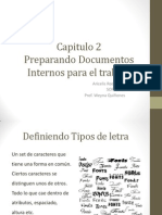 Preparando Documentos Internos. Cap2