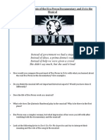 comparative analysis of the eva peron documentary and evita the musical