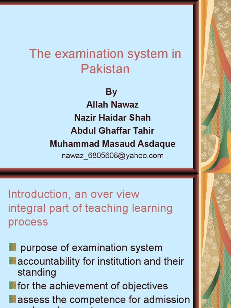our examination system essay
