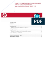 HP SaaS SiS 9.5 Installation and Integration