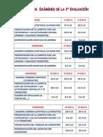 Fechas exá. 3ª eva. curso 2012-13