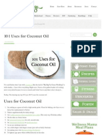 101 Uses of Coconut Oil