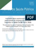 avaliação pelos usuarios dos hospitais de sp.