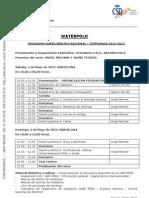 Programa Curso Waterpolo Arbitros Nacional 2013