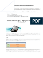 Eliminar Particiones MSR o GPT Al Hacer Downgrade de Windows 8 A