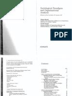 Burrell Sociological Paradigms and Organisational Analysis