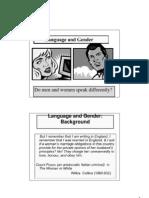 Language Gender