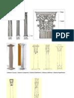 Columna Toscana Columna Compuesta Columna Palmiforme Columna Lotiforme Columna Papirifoeme