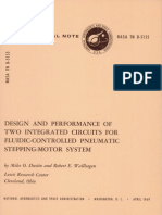 Design and Performance of Two Integrated Circuits for Fluidic-Controlled Pneumatic Stepping Motor System