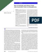 Declaracion de Helsinki-Enfoque de Los Ensayos Con Control Con Placebo en Esquizofrenia