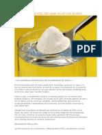 Propiedades Del Bicarbonato de Sodio