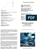 Programa Domingo 21 Abril 2013