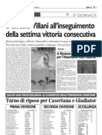 IL CIRCOLO VILLANI ALL' INSEGUIMENTO DELLA SETTIMA VITTORIA CONSECUTIVA