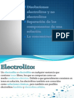 Disoluciones Electrolitos y No Electrolitos