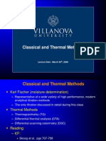 Classical and Thermal Methods
