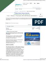 Basic Off-Grid Solar Design