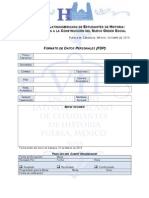 Formato de Datos Personales (FDP) VII ELEH