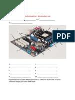 Motherboard Part Identification Quiz