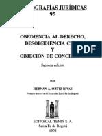 Obediencia Al Derecho, Desobediencia Civil y Objecion de Conciencia