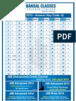Jee Main 2013 Key