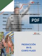 PRODUCCIÓN EN CORTO PLAZO