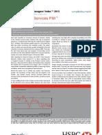 130506 HSBC China Services April 2013 PMI - Report