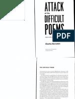 2.Bernstein (the Difficult Poem)