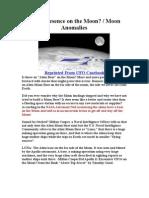 Alien Presence on the Moon/ Moon Anomalies