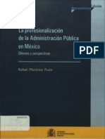 La Profesionalizacion de La Administracion Publica en Mexicorafaelmartinezpuon