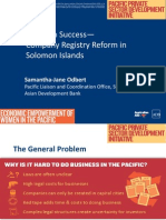 Solomon Success - Company Registry Reform in Solomon Islands
