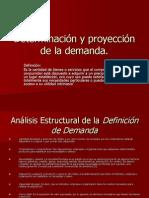 Determinación y proyección de la demanda