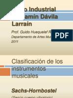 Clasificación instrumentos musicales Sach - Hornbostel