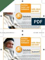 Anzeige Gutschein2009