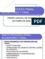 Sistema Acusatorio Penal Etapa Intermedia