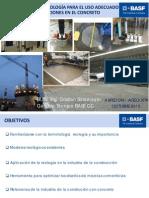 ASPECON 2012 Importancia de la reología para uso adecuado de aditivos y adiciones en el concreto