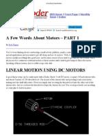 A Few Words About Motors
