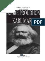 Marx Karl Sobre Proudhon