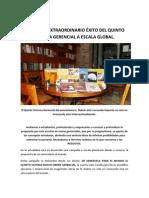 H. DUBRIC EXTRAORDINARIO ÉXITO DEL QUINTO SISTEMA GERENCIAL A ESCALA GLOBAL.