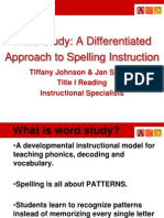 word study title i institute