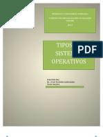 Tipos de Sistemas Operativos. Sebastian Diaz.