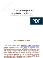 Top 10 Indian Mergers and Acquisitions in 2011