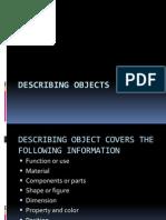 Describing Objects