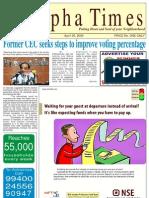 Alpha Times, T Nagar April 05, 2009
