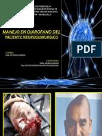 Menejo en Qx Del Pte Neuroquirurgico