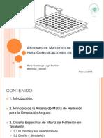 Antenas de Matrices de Reflexión para Comunicaciones en THz