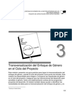 Transversalizacion Del Enfoque de Genero en El Ciclo Del Proyecto