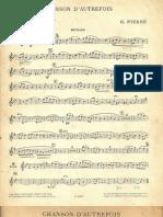 G Pierné Chanson D´Autrefois Sax Cuartet