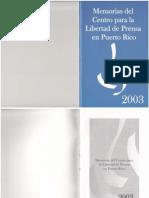 Memorias 2003